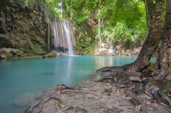 Cliff of Erawan waterfall. Kanchanaburi Thailand Royalty Free Stock Photography