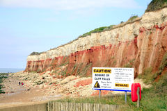 Cliff erosion, Hunstanton, West Norfolk. Royalty Free Stock Images