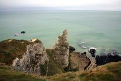 Cliff in Etretat Stock Image