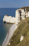 Cliff in Etretat Stock Photography