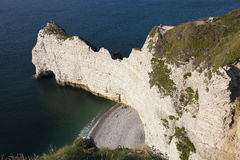Cliff in Etretat Stock Photos