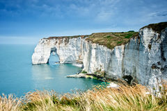The cliff of Etretat, Normandy Royalty Free Stock Photography