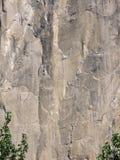 Cliff Face. Closeup of mountain cliff-face, a rock climbers dream stock photography