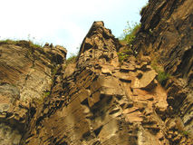 Cliff Face. A look straight up the face of a sedimentary rock cliff Royalty Free Stock Photography