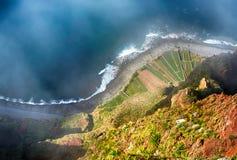 The cliff face of cabo girao,Madeira Royalty Free Stock Photo