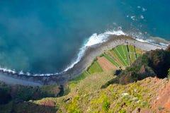 The cliff face of cabo girao,Madeira Stock Photography