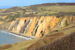 Cliff face. A photo of the coloured sands cliff face on the isle of wight Royalty Free Stock Images