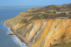 Cliff face. A photo of the coloured sands cliff face on the isle of wight Royalty Free Stock Image