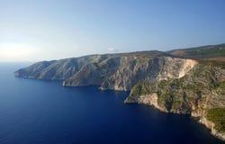 Cliff face on Zakynthos island Stock Photos