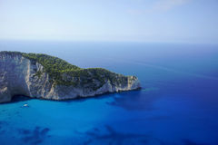 Cliff face on Zakynthos island Stock Photo
