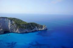 Cliff face on Zakynthos island Stock Photo