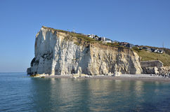 Cliff of Fécamp in France Stock Images