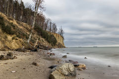Cliff in Gdynia Royalty Free Stock Images