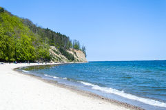 Cliff of Gdynia Orlowo at Baltic sea, Poland Royalty Free Stock Photos