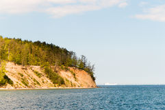 Cliff at Gdynia Orlowo at Baltic sea, Poland Royalty Free Stock Photography