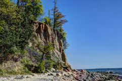 Cliff in Gdynia Orlowo,Poland Stock Photography