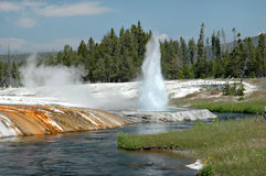 Cliff Geyser Stock Photos