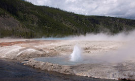 Cliff Geyser Stockbilder