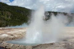 Cliff Geyser Royalty Free Stock Images