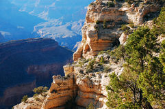 Cliff in the Grand Canyon. Rocky cliff edge in the Grand Canyon, Arizona Royalty Free Stock Photography