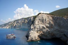 Cliff in Greece Royalty Free Stock Photo