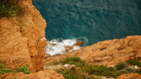 Cliff. In Greece called cape sounion Stock Image
