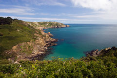 cliff Guernsey Fotografia Stock