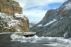 Cliff Hanger en Yellowstone Foto de archivo
