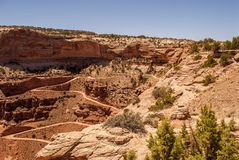 Cliff hanging road - Canyonlands National Park. Canyonlands NP - Shafer Canyon Road Royalty Free Stock Image