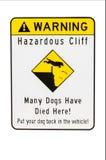 Cliff hazard danger warning sign Stock Photos