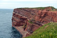 Cliff of Helgoland Stock Image