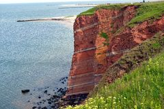 Cliff of Helgoland. The sandstone cliff of Helgoland, the German island in the north sea Stock Photography