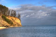 Cliff. The highest cliff in Poland on the Baltic sea royalty free stock photo