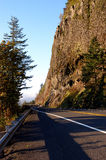 Cliff and Highway Royalty Free Stock Photo
