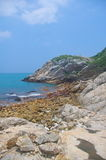 Cliff of Hongkong seaside Stock Photos
