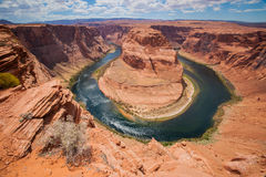 Cliff Beside Horseshoe Bend Stock Photography