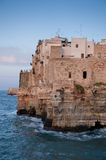 Cliff House. Sunset at Polignano a Mare, Italy, 2009 Stock Images