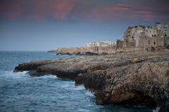 Cliff House. Sunset at Polignano a Mare, Italy, 2009 Royalty Free Stock Photography