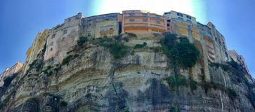 Cliff houses of Tropea. Colorful cliff houses of Tropea, Italy Stock Photography