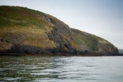 Cliff Ireland Atlantic Sea Celtic Fishing fish boat water Royalty Free Stock Image