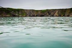 Cliff Ireland Atlantic Sea Celtic Fishing fish boat water Royalty Free Stock Photography