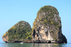 Cliff island. Uninhabited cliff island at Krabi, Thailand stock photos