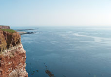Cliff on a island. Panorama view with a cliff royalty free stock photos