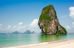 Cliff island in Andaman sea Stock Images