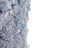 Cliff isolated on white with copyspace Royalty Free Stock Images
