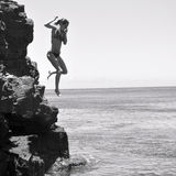 Cliff jumper Stock Photos