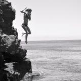 Cliff jumper Stock Photos
