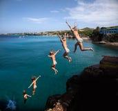 Cliff jumper Stock Image