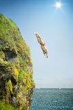 Cliff jumper Stock Images