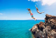 Cliff Jumping Foto de archivo libre de regalías